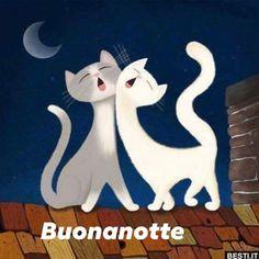 Kitty Painting - Moonlight Duet by Little Bunny Sunshine I Love Cats, Cool Cats, Cat Icon, Art Drawings For Kids, Cat Drawing, Cat Art, Moonlight, Cats And Kittens, Illustration Art