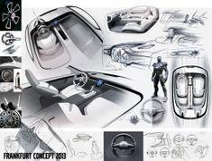 Volvo Concept Coupe Interior Design Sketches