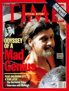 Time Magazine cover Unabomber Suspect Ted Kaczynski | Apr. 15, 1996