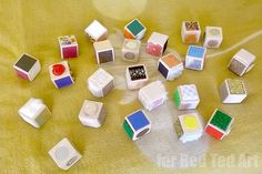 DIY Sensory Blocks - lovely toddler gift - Red Ted Art's Blog