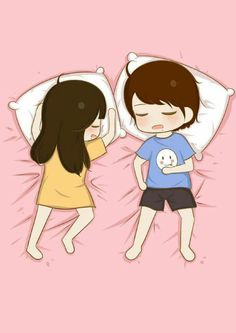 This is how i sleep almost all the time xp :p cute couple cartoon, Love Cartoon Couple, Chibi Couple, Cute Love Cartoons, Cute Couple Art, Anime Love Couple, Cute Anime Couples, Anime Chibi, Anime Art, Cute Love Pictures