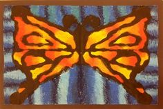 Second Grade-oil pastel complimentary color butterflies