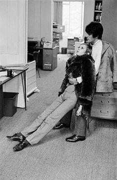 Twiggy with Justin de Villeneuve, England, London, 1966  Photo by Burt Glinn
