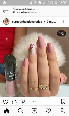 22 Totally Classy Nail Designs to Rock This Winter 2019 « Nageldesign Gelish Nails, Pink Nails, Nail Nail, French Nails, Hair And Nails, My Nails, Classy Nail Designs, Classy Nails, Simple Nails