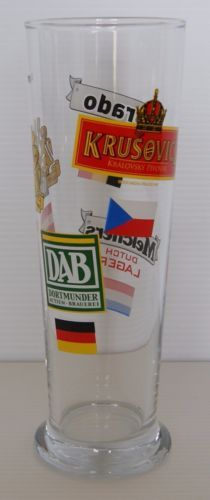 BRADO-MELCHERS-GOSSER-DAB-KRUSOVICE-Tall-20-cm-Collectable-Beer-Glass