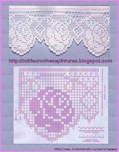 Elaborate filet crochet roses & loops ~~ http://media-cache-ec0.pinimg.com/736x/d9/c4/5d/d9c45d31800ff295fb5c07ddd2fe6e08.jpg