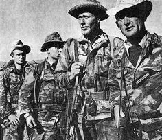 French commandos during the Algerian insurrection (war of independence to the Algerians), 1955.