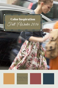 Color inspiration for fall/winter 2015 2015 Fashion Trends, Fall Fashion 2016, 2015 Trends, Autumn Fashion, Pantone Colors 2015, Pantone 2016, Color Trends, Color Combos, Fall Color Palette
