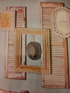 Cool way to use old shutters to decorate