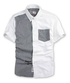 Aape Half Gingham Button Up Shirt - Black/White
