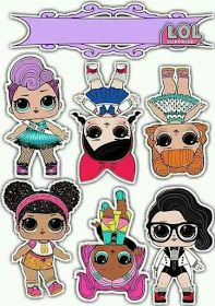 Lol Surprise Free Printable Cake Toppers Lol Dolls Lol Doll Cake Doll Cake Topper