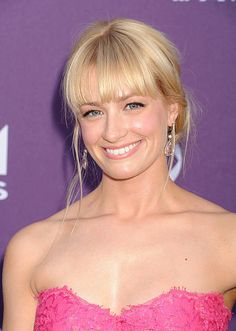 Actress Beth Behrs arrives at the 48th Annual Academy of Country Music Awards at the MGM Grand Garden Arena on April 7 2013 in Las Vegas Nevada