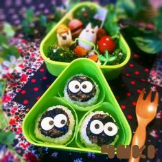 Love the expression of these rice balls !!!