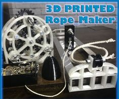 Printed Rope Maker : 6 Steps (with Pictures) - Instructables Routeur Cnc, Diy Cnc Router, Router Table, Router Woodworking, Nail Swag, Diy 3d Drucker, Rope Maker, Diy Awning, Dog Washing Station