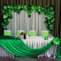 Paper green backdrop