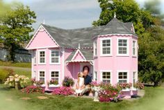 Would LOVE to have this for my daughter one day! Little Cottage Sara Victorian 8 x 16 Mansion Wood Playhouse - Outdoor Playhouses at Play Houses Kids Indoor Playhouse, Playhouse Kits, Build A Playhouse, Cedar Playhouse, Childrens Playhouse, Backyard Playhouse, Playhouse Interior, Castle Playhouse, Backyard Kids