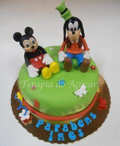 Mickey & Goofy Cake