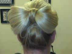 Hair bow bun!