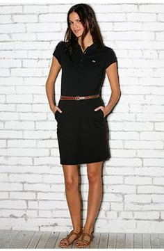 Lacoste stuff is gorge! Polo Dress Outfit, Polo Shirt Outfits, Polo Shirts, Chic Outfits, Spring Outfits, Fashion Outfits, Polo Outfits For Women, Lacoste Clothing, Cute Fashion