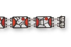 Art Deco coral and diamond bracelet, Marsh & Co, circa 1935