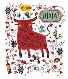 Illustrations for the Dublin and Cork 'Tapas Trail' sponsored by Spanish wine, Campo Viejo #TapasEnvy #CampoVeijo