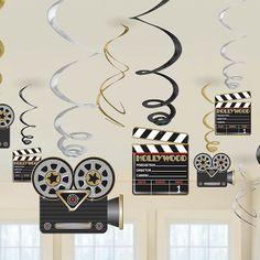 Hollywood  Hanging Decorations - 60cm Hanging Swirls£3.9912pk