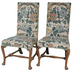 18th Century Queen Anne Side Chairs  | From a unique collection of antique and modern side chairs at https://www.1stdibs.com/furniture/seating/side-chairs/