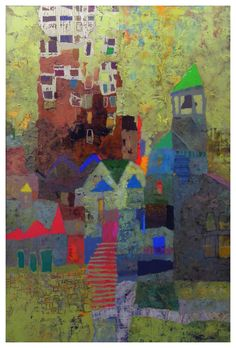 Mark English - Contemporary Artist - Abstract Town - 26