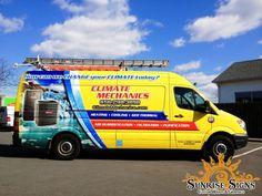 HVAC contractor van wraps