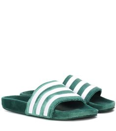 a433f9f46 Adidas Originals - Adilette velvet slides - Luxurious with a sporty  flavour