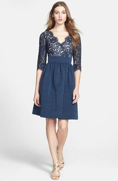 Pretty Lace & Faille Dress.