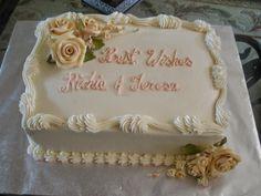 Wedding Sheet Cake From Naegelins Bakery