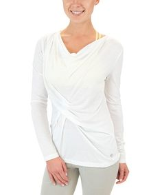 Another great find on #zulily! White Leisure Top #zulilyfinds