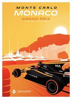 Renault Sport F1 Team poster Grand Prix van Monaco - 2017