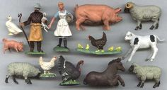 Plastic Farm Animals - We used to play with toys that didn't need batteries or electricity, they didn't 'DO' anything we used our imaginations '~}