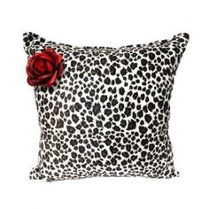 Leopard Rose Throw Pillow by Hemet #InkedShop #leopard #pillow #decor #homegoods