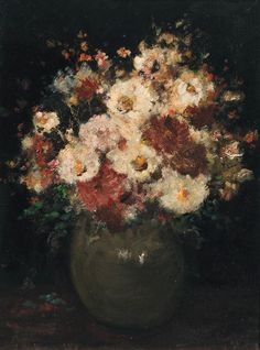 A still life with flowers, Anna Boch. Belgian (1848 - 1936)