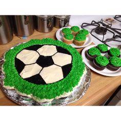 Soccer cupcake cake!