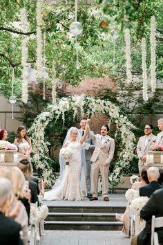 Dallas Garden Wedding Ceremony at the Crescent Court Hotel Wedding Ceremony, Wedding Venues, Gold Wedding, Floral Arch, Dallas Wedding, Bridesmaid Dresses, Wedding Dresses, Garden Wedding, Wedding Planner