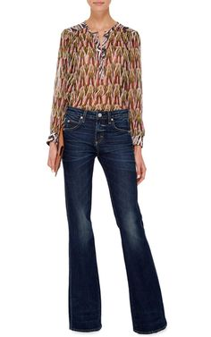 Kick High Waisted Flared Jeans by AMO Now Available on Moda Operandi