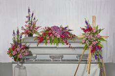 Sympathy floral collection. Casket Sprays, Flowers Nature, Floral Arrangements, Craft Supplies, Wreaths, Crafts, Collection, Ideas, Home Decor