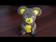 3D origami bear (Bruin, teddy-bear, grizzly bear) assembly diagram (Tutorial) - YouTube