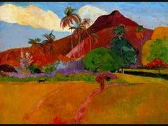 In 1891 Paul Gauguin painted Tahitian Landscape using oil on canvas. Paul Gauguin went to Tahiti in 1891 in search of new, exotic motif. Paul Gauguin, Henri Matisse, Claude Monet, Impressionist Artists, Peter Paul Rubens, Oil Painting Reproductions, Art Moderne, Art Plastique, Vincent Van Gogh