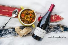 This Apres Ski Beef and Noodle Stew is a delicious dish that is great for a crowd- and won't wear you out after a tough day on the slopes.