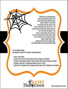 """""""FREE Printable"""" - You've Been Boo'ed. Start a new community tradition and """"Boo"""" your neighbours this Halloween. A wonderful way to have fun with your neighbours this Halloween."""