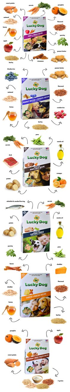 Lucky Dog® treats are Made in the USA with the best ingredients from nature. The #1 happy-healthy dog treat. Look for the clover!