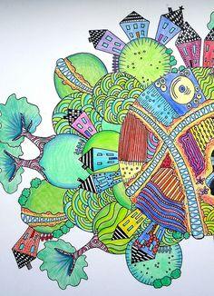 Nice neighborhood! Zentangle Flickr group (thousands of pics of great doodles)  ~~~~> Take a Look!