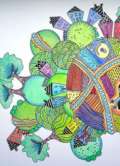Nice neighborhood! Zentangle Flickr group (thousands of pics of great doodles)  ~~~~> Take a Look!