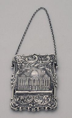 Elegant American Coin Silver Lady's Calling Card Case. by Leonard & Wilson. ca.1850.