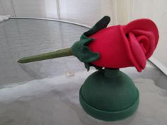 Resultado de imagem para caneta com flor de eva